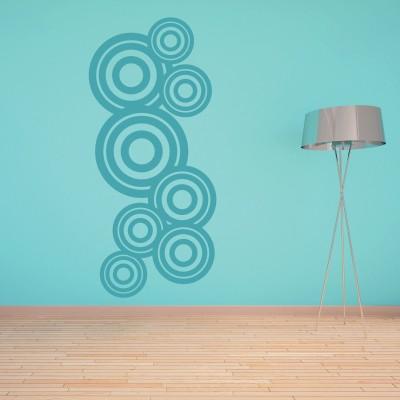 Adesivo Murale Cerchi nei Cerchi