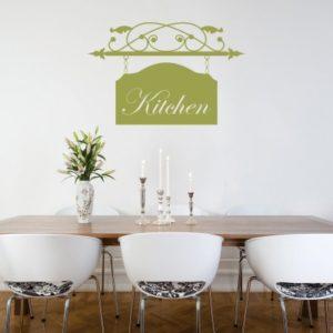 Adesivo Murale Kitchen Insegna