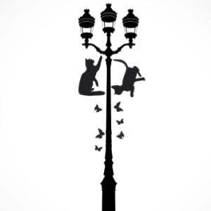 adesivo_murale_gatti_lampione