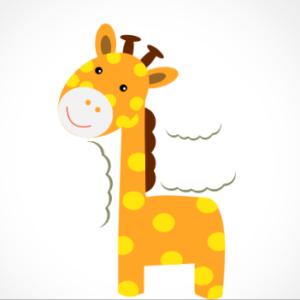 adesivo_murale_giraffa_nuvole