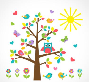 adesivo_murale_gufo_alberi