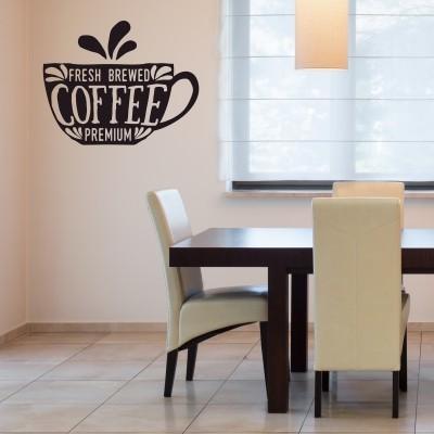 Adesivo Murale Fresh coffee