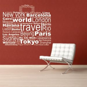 Adesivo Murale World Travel (2)