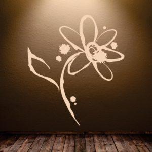 Adesivo Murale Rosa Astratta