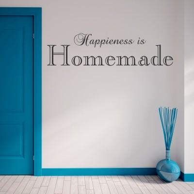 Adesivo Murale Happiness is Homemade (2)