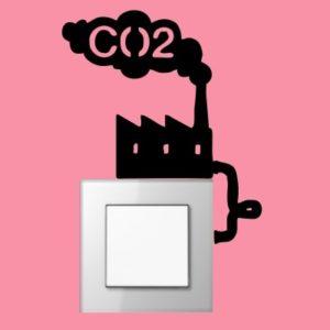 Adesivo Murale CO2