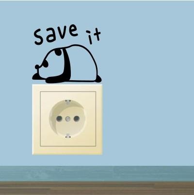 Adesivo Murale Panda Save It