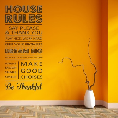 Adesivo Murale House Rules
