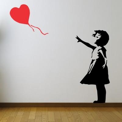 Adesivo Murale Bambina con Palloncino