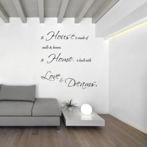 Adesivo Murale House Home Love Dreams