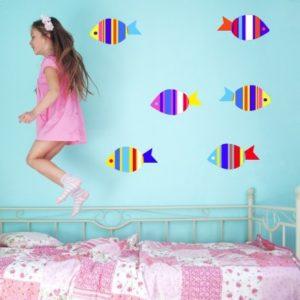 Adesivo Murale Pesciolini colorati
