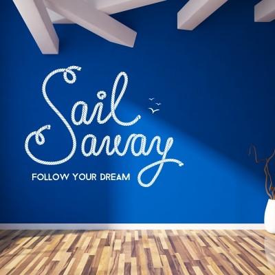Adesivo Murale Sail away
