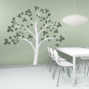 Adesivo Murale Albero con foglie