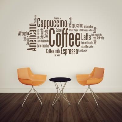 Adesivo Murale Coffee Cappuccino Espresso