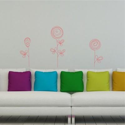Adesivo Murale Rose Astratte