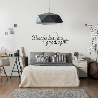 Adesivo Murale Always Kiss Me Goodnight (5)