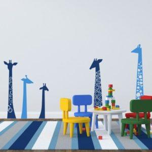 Adesivo Murale Giraffe Allegre