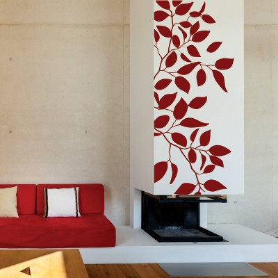 Adesivo Murale Rami e Fogliame