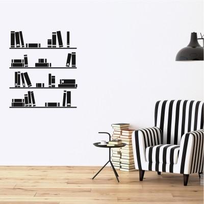 Adesivo Murale Mensole con Libri