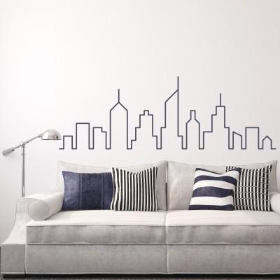Adesivo Murale Skyline Metropoli