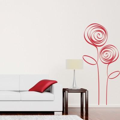 Adesivo Murale Rose Moderne (2)