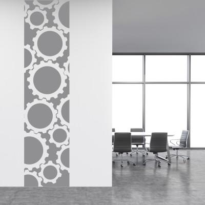 Adesivo Murale Cornice Ingranaggi
