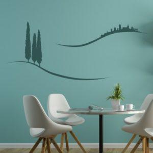 Adesivo Murale Paesaggio Toscana