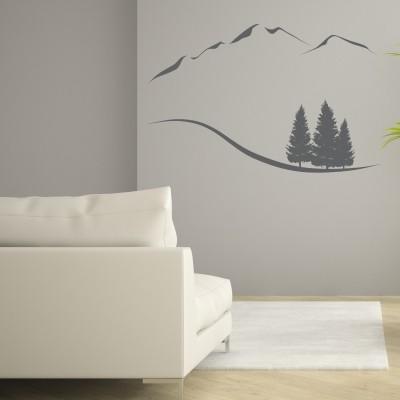 Adesivo Murale Montagne Minimal