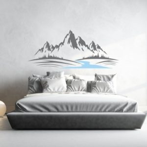 Adesivo Murale Montagne con Fiume