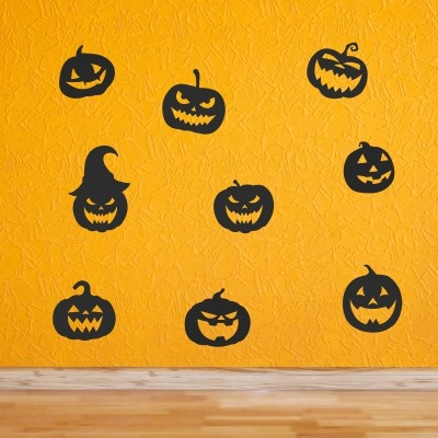 Adesivo Murale Zucche di Halloween