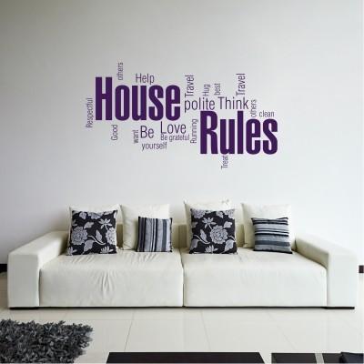 Adesivo Murale House Rules (4)