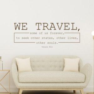 adesivo murale We Travel