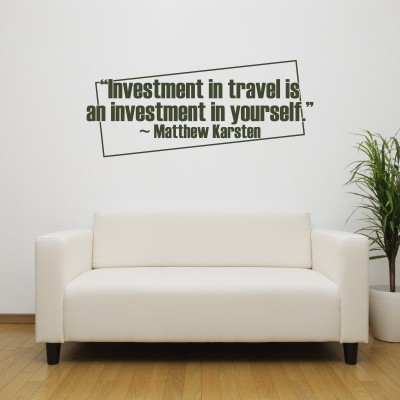 adesivo murale Investmen In Travel