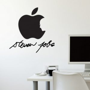 Adesivo Murale Apple Steve Jobs