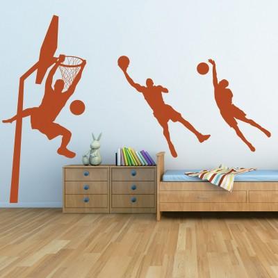Adesivo Murale Basket Giocatori