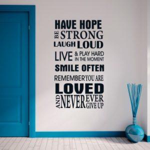 Adesivo Murale Hope