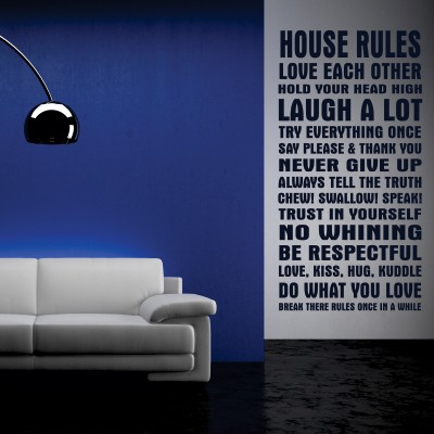 Adesivo Murale House rules