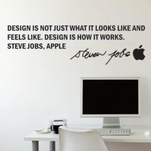 Adesivo Murale Steve Jobs