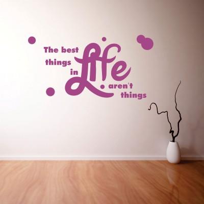 Adesivo Murale Things in Life