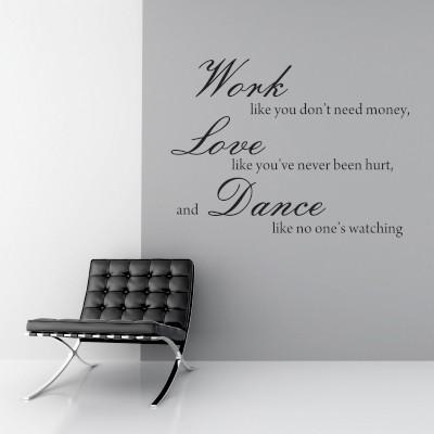 Adesivo Murale Work Love Dance