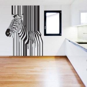Adesivo Murale Zebra Codice a Barre