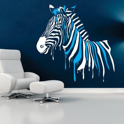 Adesivo Murale Zebra Dipinta