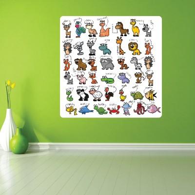 Adesivo Murale Animali e Nomi