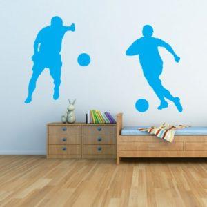 Adesivo Murale Giocatori di Calcio