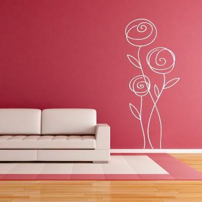 Adesivo Murale Rosa Astratta (2)