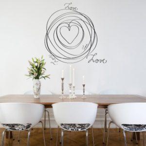 Adesivo Murale Love in Circolo