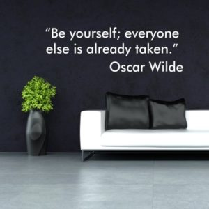 Adesivo Murale Be Yourself Oscar Wilde