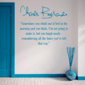 Adesivo Murale Morning Charles Bukowski