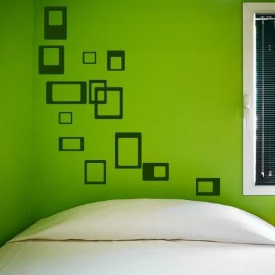 Adesivo Murale Quadrati e Quadrati