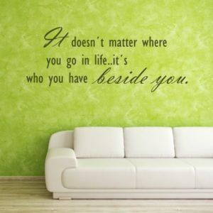 Adesivo Murale Beside You